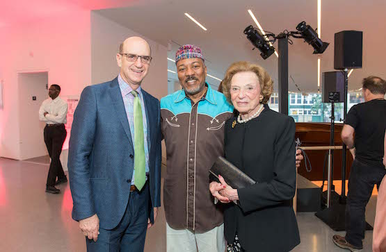 SFMOMA Board President Bob Fisher, choreographer Alonzo King, and art collector and donor Doris Fisher.