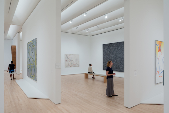 I heard visitors praise the curators for the brilliant installations and remark favorably on the fact that the large, spacious galleries give the works room to breathe.