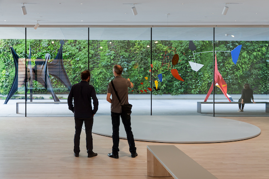 There's also a dedicated Alexander Calder gallery, an adjacent outdoor sculpture terrace, a Calder hanging in the atrium, and 40 Calder sculptures in the Fisher Collection.