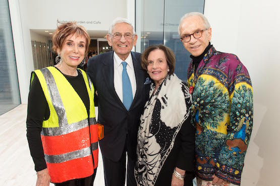 The very fashionable Norah Stone, Eli and Edyth Broad, founders of LA's Broad Museum (2015), and Norman Stone.