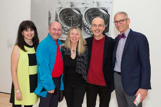 Snøhetta's Elaine Molinar, Snøhetta Co-founder Craig Dykers, artist Bill Viola and wife (and studio director) Kira Perov, and NYC gallerist Jim Cohan.