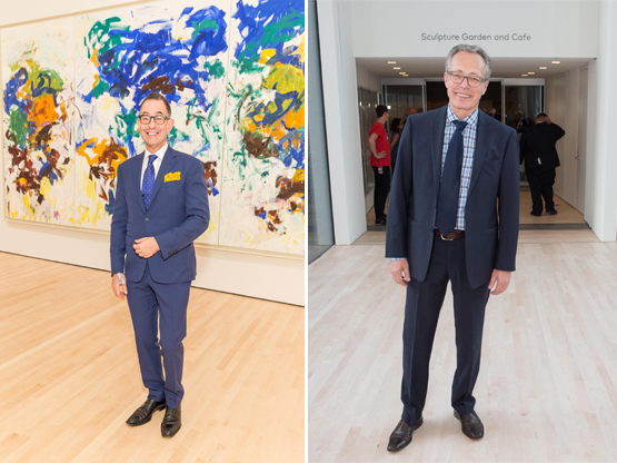 Left: Colin Bailey, Director of NYC's Morgan Library and Museum.Right: Rudolf Frieling, SFMOMA Curator of Media Arts.
