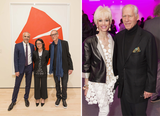 Left: Anthony Allen; Lydia Yee, Chief Curator of London's Whitechapel Gallery; and artist and composer Christian Marclay.Right: OJ and Gary Shansby.