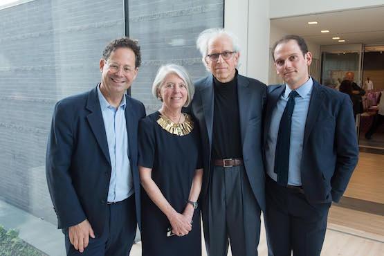 Whitney Museum Director Adam Weinberg, SFMOMA Curator Sandra Phillips, artist Tom Marioni, and Nick Shore.