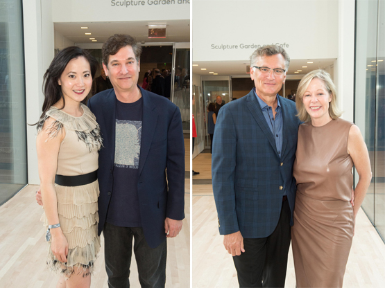 Left: Angela Chao and venture capitalist and Trustee Jim Breyer.Right: Bill Lamkin and Trustee Janet Lamkin.