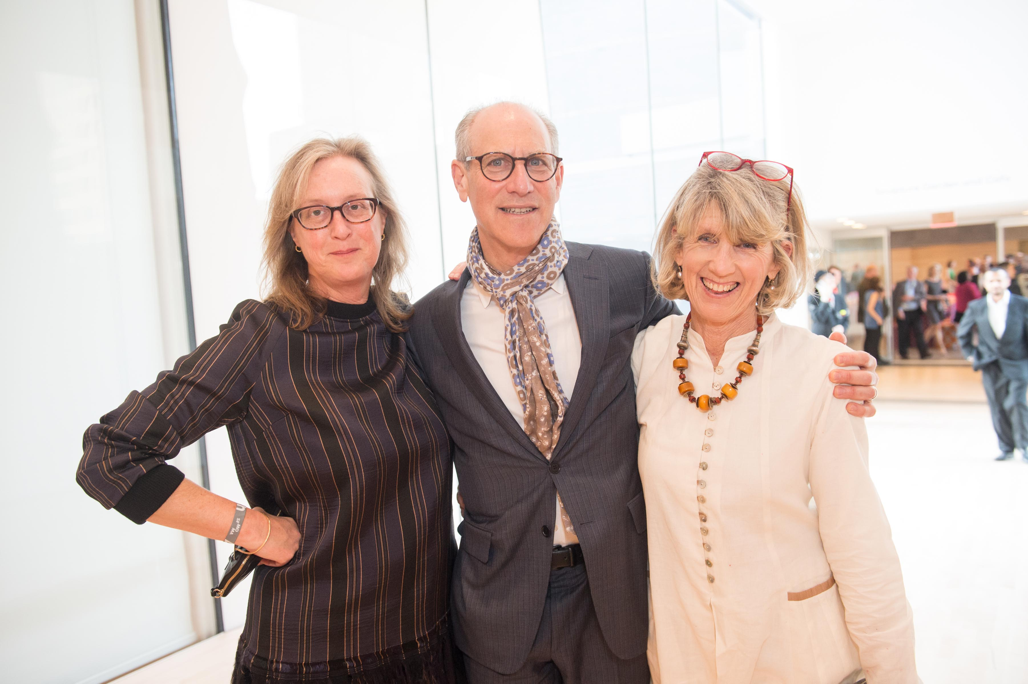 SFMOMA Curator Janet Bishop; Glenn Lowry, Director of NYC's Museum of Modern Art; and Susan Lowry.
