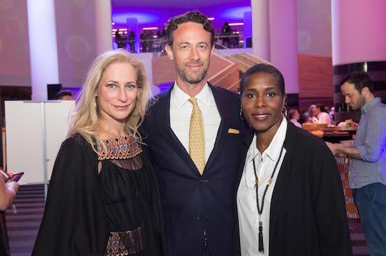 Joni Binder Shwarts, Darius Himes of Christie's, and author Natalie Baszile.