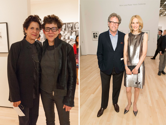 Left: Artists Catherine Wagner and Maria Elena Gonzalez.Right: Doug Biederbeck and Jennifer Biederbeck, of Sotheby's.