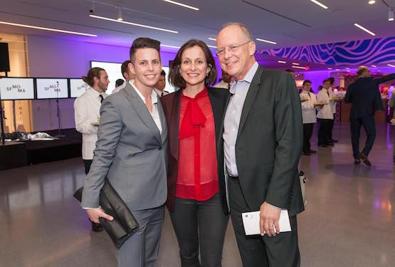 Gallerist Jessica Silverman, arts writer Sarah Thornton, and art critic Charles Desmarais.
